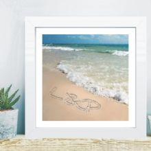 Writing In The Sand Artwork in Box Frame - Unique Wedding, 1st Anniversary, or Engagement Gift
